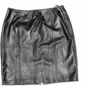 Croft & Barrow Lambskin Leather Skirt